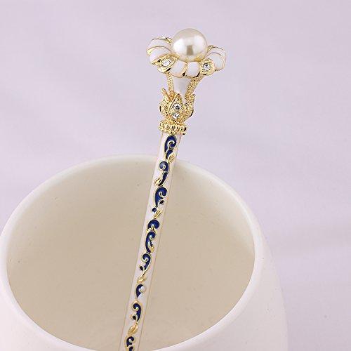 1 pièce de haute qualité, Belle bleu et blanc procelain cristal fleurs Antique de cheveux, épingles à cheveux, cheveux, baguettes, Accessoire pour cheveux, mariage, Bijoux
