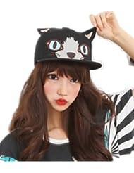 Autek cap Oreilles de chat dressées hip hop casquette de baseball à plat le long (568)