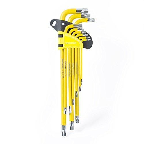 WORKPRO w022012a Lange Arm Torx Schlüssel Set, 9Stück - Arm Torx