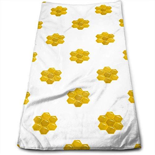 Honigkamm der Biene Symbol Flache Mikrofaser 3D-Design-Muster Handtuch 12 x 27,5 Handtuch Handtücher (Papier Schwarz Halloween Bau)