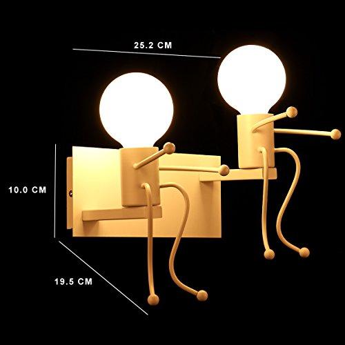 KAWELL-Creativo-Vintage-Lampada-da-Parete-Industriale-Retro-Applique-da-Parete-Lampada-a-Muro-Supporto-In-Ferro-Art-Deco-E27-Base-per-Bar-Camera-da-Letto-Cucina-Ristorante-Caff-Corridoio