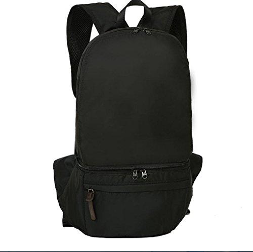 BUSL Großraum-outdoor-Touren Wandern Tasche falten wasserdichtes Nylon 28L Rucksack Tasche Black