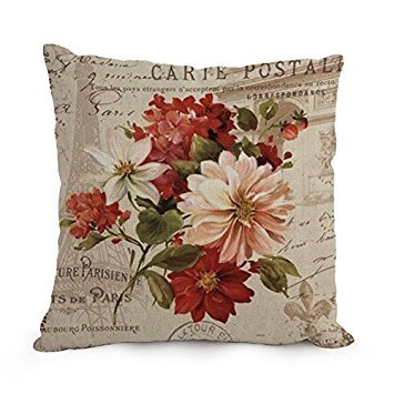 Elegancebeauty Flower Art Throw Pillow Case 18 X 18 Inches / 45 By 45 Cm Best Choice For Relatives,lounge,home,home Office,birthday,pub With 2 Sides