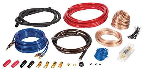 Eurosell - 1500 W Premium Car Audio Verstärker Anschlusskit L - Anlage Verstärker Auto KFZ Hifi Kabel Set Kit mit Remote Leitung Subwoofer - Audio-kabel-kit