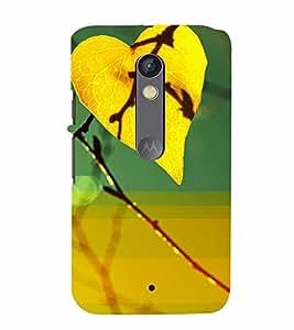 PrintVisa Romantic Love Leaf 3D Hard Polycarbonate Designer Back Case Cover for Motorola Moto X Play