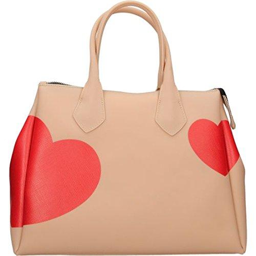 Borsa a mano Gum Gianni Chiarini Design in gomma rosa cipria cuore rosso