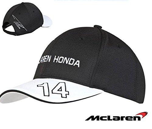 McLaren Honda Ufficiale Fernando Alonso cap Kids Nero Copricapo Cappello Formula 1