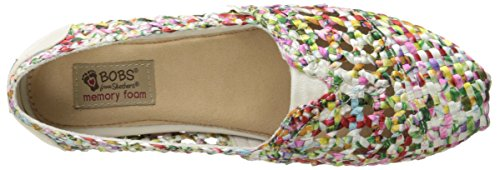 Bobs by Skechers Luxe Bobs-Fresh Cut Rund Textile Slipper White/Multi