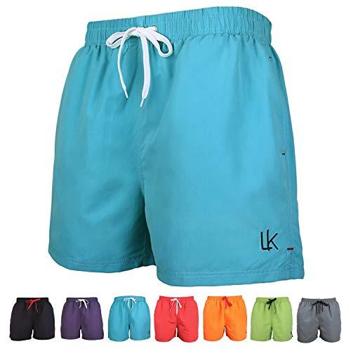 LK B.Hose Shorts de Bain Homme Maillot Short de Jogging Short d'été Eté à Séchage Rapide Multicolore_Bleu_XL