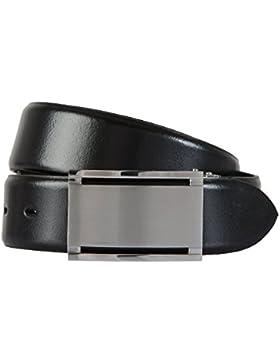 LLOYD Correas de los hombres Cinturón de cuero negro