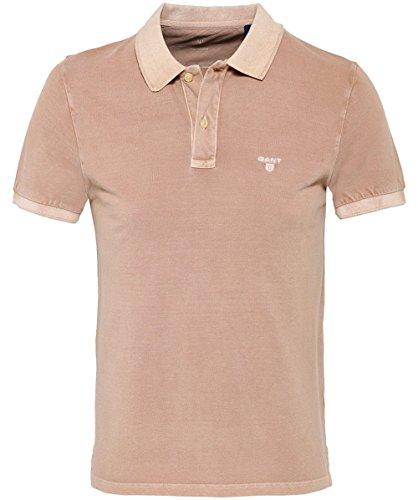 GANT Herren Regular Fit Sunbleached Polo-Shirt XXL Khaki (Pigment-piqué)