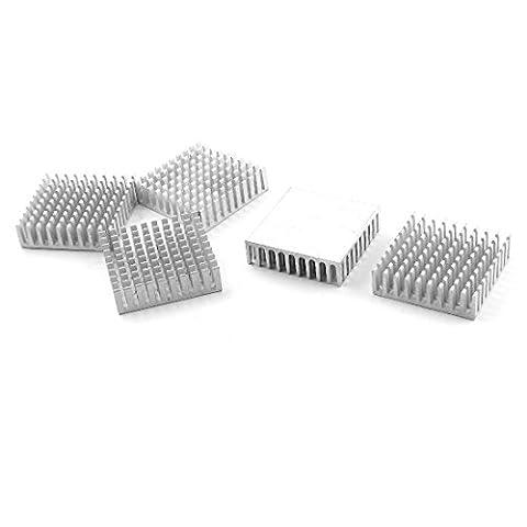 sourcingmap® 35mm x 10mm x 35mm Fendue carré Dissipateur De Chaleur dissipateur de chaleur Refroidissement Fin x 5