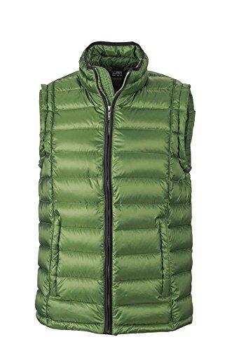 Men's Quilted Down Vest   jungle-green/black   XXL im digatex-package Mens Down Vest