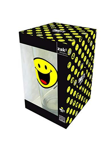 Zak Designs 6727-R955 Smiley Emoticon Glücklich Glas 30 cl in Geschenkbox