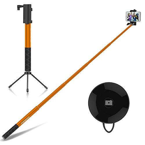 MoKo Aluminum Selfie Stick Stange Stab Monopod mit Bluetooth Auslöser Adjustable Halterung für iOS, Android Smartphone iPhone, Samsung, Huawei, LG, HTC, Microsoft Lumia, Sony, ASUS, Motorola, Orange