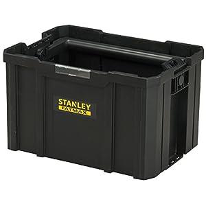Stanley FatMax Werkzeugtrage / Werkzeugbox TSTAK (zum Verstauen und Transportieren von Werkzeug, mit ergonomischen und klappbaren Handgriff, geräumige und leicht zugängliche Konstruktion) FMST1-75794