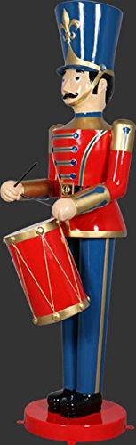Casse-noisette soldat avec tambour avec languettes de fixation au sol (Métal) agrandissement 275 cm pour extérieur en fibre de verre haute qualité plastique (GFK)