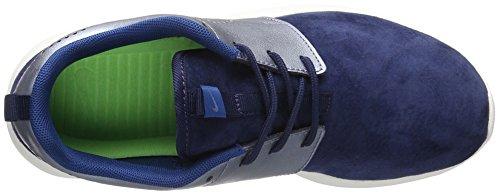 Nike W Roshe One Prm Suede, Chaussures de Sport Femme Bleu (Midnight Navy/Sail/Court Blue/Metallic Blue Dusk)