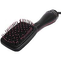 2 en 1 masaje eléctrico secador de pelo peine cepillo, plancha de pelo de calentamiento