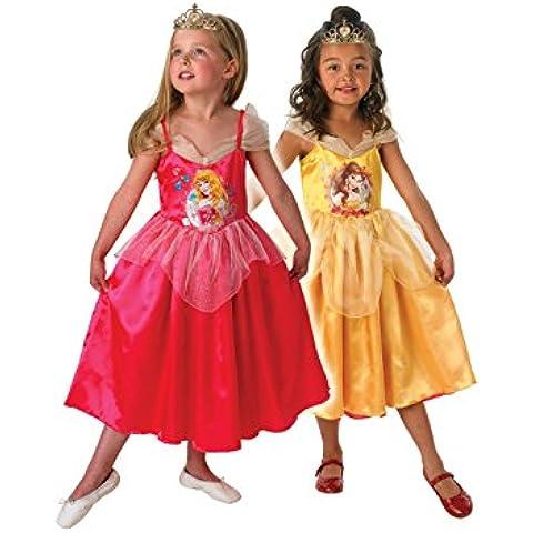 Reversible Deau Bella Durmiente Golden Belle - Disney Childrens Disfraz - Pequeño - 104cm