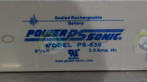 Bleiakku - Akku Powersonic PS 630 - Powersonic PS630 - Powersonic PS-630 - 6V 3,4Ah - Rechargeable Sealed Lead Acid (SLA) Battery - AGM / Blei Vlies Sealed Lead Acid-agm