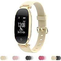 Dame Sports Armband Fitness Tracker Smartwatch Wasserdicht Bluetooth Wireless 0,96 Zoll für Android 4.3 / IOS 8.0 und höher