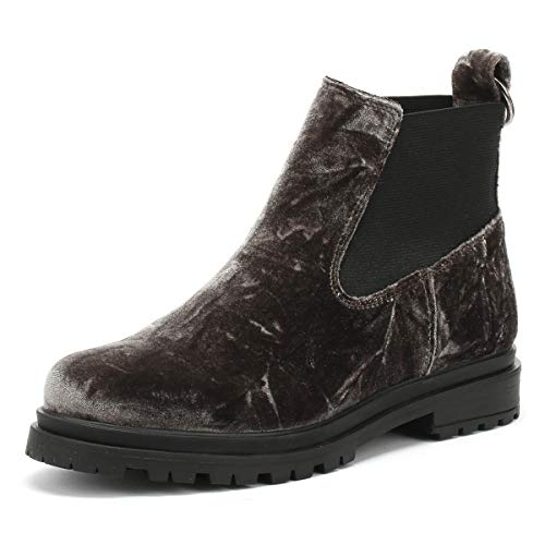 Shoe the Bear Akira Femmes Dark Gris Velvet Bottes