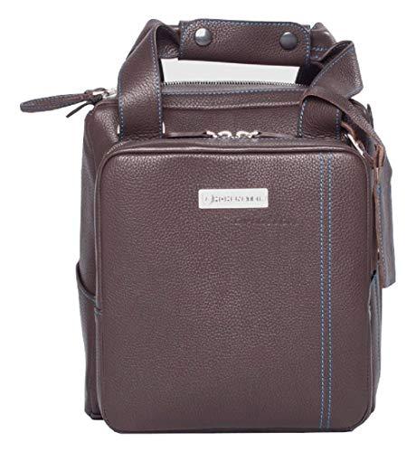Headset Bag Braun - der perfekte Begleiter für kleine Ausflüge aus echtem Leder - Elegant und modisch - optimiert für die Mitnahme eines Headsets