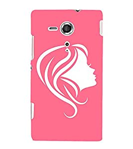Face Illustration 3D Hard Polycarbonate Designer Back Case Cover for Sony Xperia SP :: Sony Xperia SP M35h