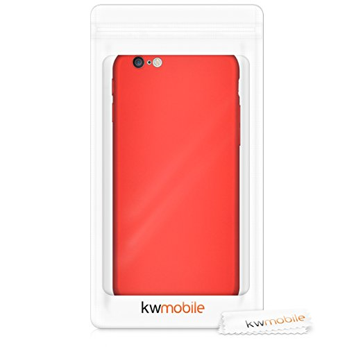 kwmobile Hardcase Hülle für Apple iPhone 6 / 6S - Hartschale Backcover Case Schutzhülle Cover in Metallic Dunkelrot Metallic Dunkelrot