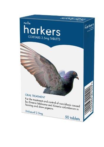 Petlife Harkers Coxitabs zur Behandlung von Kokzidien bei Tauben, 50Tabletten