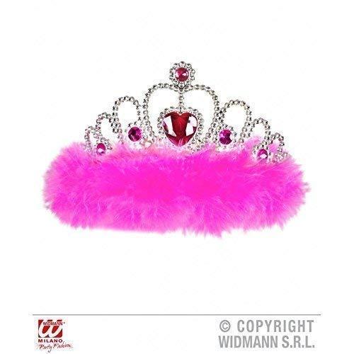 m Girls Night Out mit pinkem Marabu & pinken Edelsteinen / Krone / Prinzessin / Fasching ()