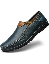 DAN Hombres Zapatos De Cuero Antideslizantes Mocasines Informales Zapatos Planos Transpirable Suave Comodidad Caminar Conducir Negocio