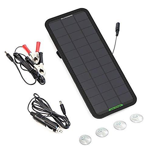 kelihood 18 V 7,5 W Solarpanel-Batterie Ladegerät Tragbares Solar-Auto-Boot-Power-Sunpower-Ladegerät Auto-Motorrad-Traktor-Boot-Ladegerät - Solar-power-auto-batterie-ladegerät