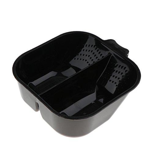 Baoblaze Färbeschale - 2 Gitter schwarz, Kunststoff