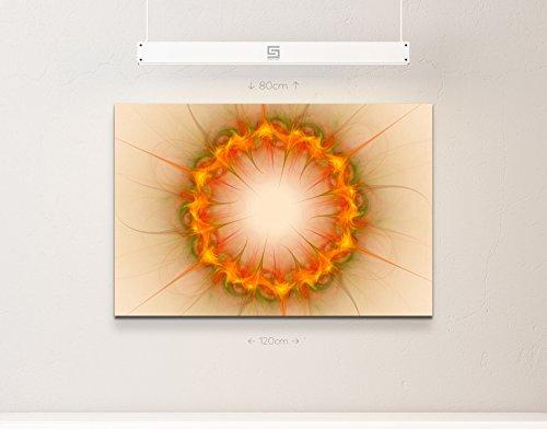 Abstraktes Bild – Kreis + orange-grün