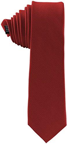 ADAMANT® Seidenkrawatte Rot 6cm | 100% Reine Seide | Moderne uni Krawatte für Business und Alltag - Hellrot