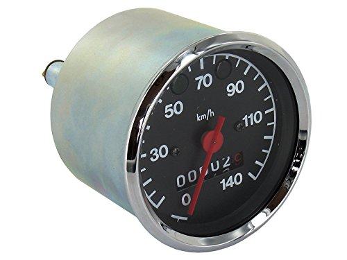 MMB Tachometer bis 140 km/h, Ø80mm, Kontrollleuchten BLAU + GRÜN - für MZ ETZ