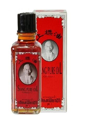 Siang Pure Oil Red Medicated Oil Herbal Ingredient Pain relief plus nasal inhaler 25cc