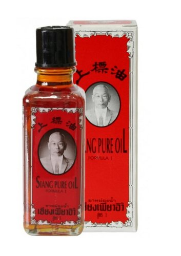 Siang Pure Oil Red Medicated Oil Herbal Ingredient Pain relief plus nasal inhaler 25cc - Baby Eagle Zubehör