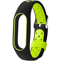 LIUYUNE,M2 Pro TPE Wristband para Xiaomi Mi Band 2 Air Hole Design(Color:Negro y Verde)