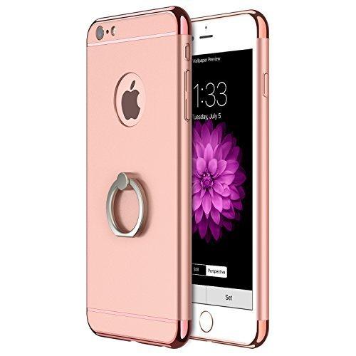 iPhone 6s Hülle, RANVOO Elektroplattierter Kappen mit einer Matter Oberfläche 3-Teilige Styliche Extra Dünne Harte Schutzhülle Case for iPhone 6 Silber,[CLIP ON] Roségold - Model 2