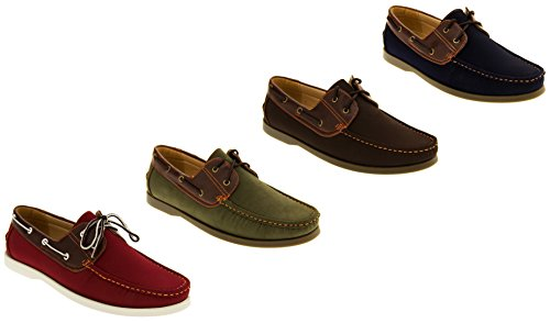Shoreside Hommes Faux Cuir Chaussures Bateau
