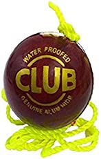 SanR Club Red Leather Cricket Hanging, Knocking & Practice Ball