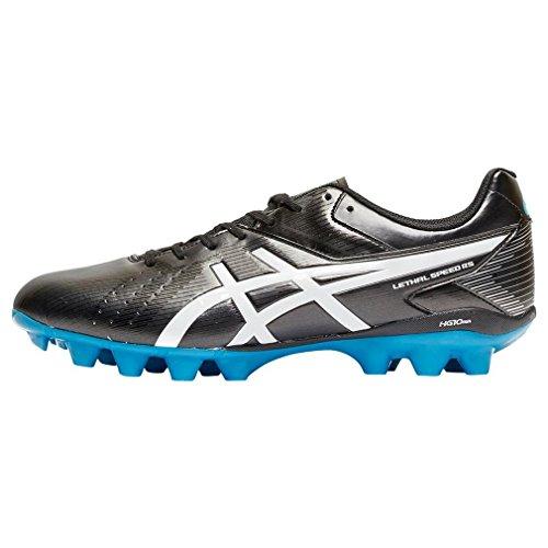 ASICS Lethal Speed Rs - Scarpe da Rugby Uomo, Nero (black/white/methyl Blue 9001), 44 1/2 EU Black