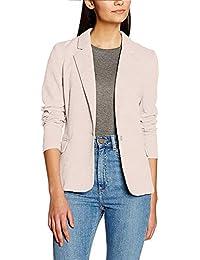 f6266f615ee1 Genhoo Damen Blazer Elegante Langarm Business Büro Jäckchen Anzug Casual  Kurzblazer Mantel Jacke…