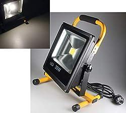 LED Baustrahler mit 1,5M Netzkabel I IP44 Arbeitsleuchte I Arbeitsscheinwerfer für Werkstatt Baustelle I 4000k / Neutralweiß (30Watt, 2200 Lumen)