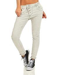 Fashion4Young 11105 Damen Jeans Hose Boyfriend Baggy Haremsjeans Slim-fit  Röhre Damenjeans Pants 324e2cb8c1