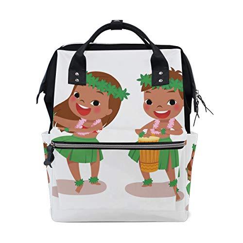 Hula Dance Optimismus Positive Große Kapazität Wickeltaschen Mama Rucksack Multi Funktionen Windel Pflege Tasche Tote Handtasche Für Kinder Babypflege Reise Täglichen Frauen