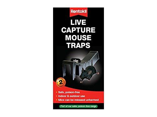 Rentokil ptm80 Live Capture pièges à Souris (Lot de 2)